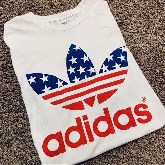 adidas Other - Adidas American Flag T Shirt
